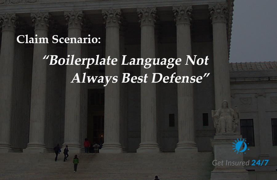 Boilerplate is not always the best defense