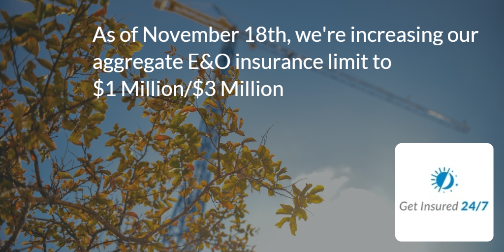 E&O limit updated
