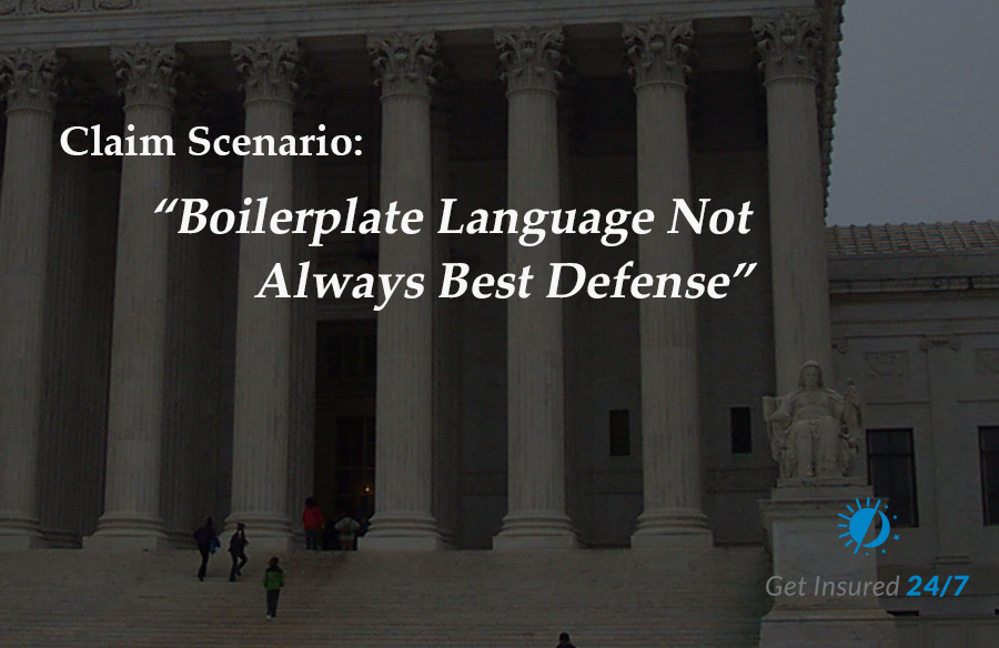 Boilerplate is not always the best defense